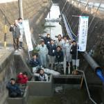 関市千疋での魚道とバーブ工の設置作業についてアップしました。